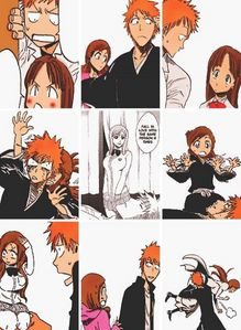 [b]Ichigo and orihime[/b]-[i]The only couple I see becoming Canon in bleach[/i]