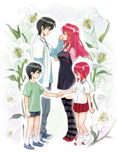 Both young and older Lucy Elfen Lied
