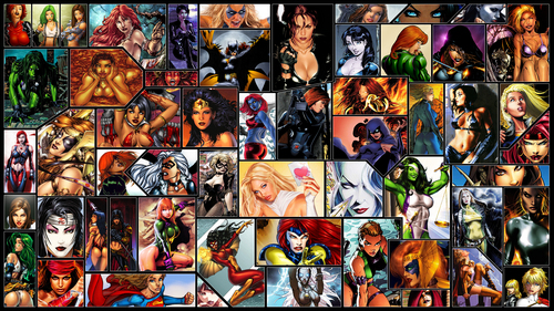 Yea. Basically a collage of some of the most مقبول female superheroes. Yes I am a huge comic book geek shut up. xD