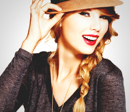 this is my pic of taylor swift wearing a hat