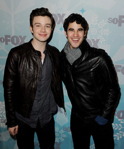 Darren Criss and Chris Colfer (and yes I know chris is gay I still like him) I can't help it they're both adorable