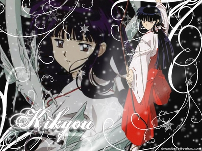 Kikiyo ! Yeah, she is rival of Kakome and stuff...... But still her death made me so sad. I dunno why. Sometime it is because InuYasha was sad about her death !