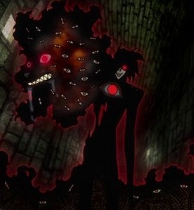 the first time alucard released his hell hounds ( hellsing)