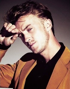 Tom Felton...preferably with the blonde hair.
