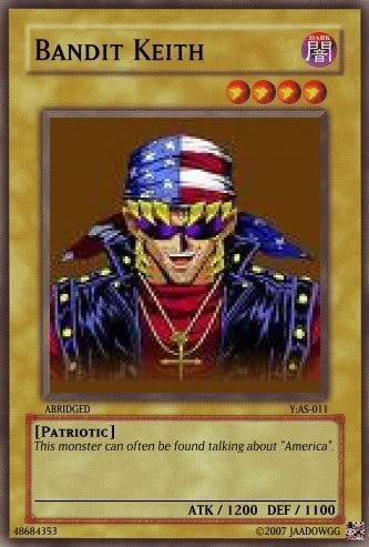 Bandit Kieth from Yugioh Abridged. He's Canadian.