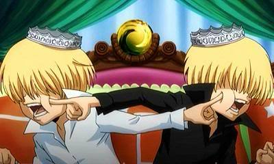 Bel (white) and Sil (Black) from KHR!