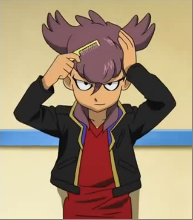 Tobitaka Seiya and his hair comb xD btw, he's from the animê Inazuma Eleven.