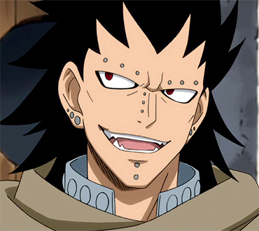 Gajeel Redfox from Fairy Tail has red eyes