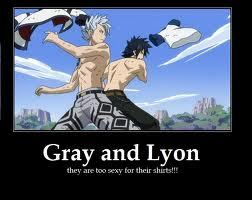 Gray and Lyon obsession is striping off his clothing!! lol