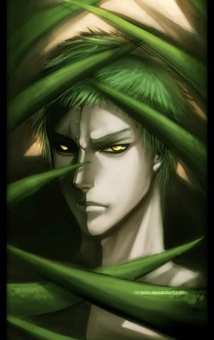 Some of the naruto characters are really weird. For example Zetsu is half man half plant.