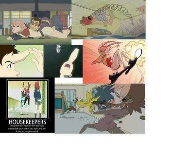 FLCL lol the most aleatório wtf show i've ever seen