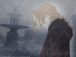 Okay it's a sad picture, but I amor it! Edward Elric from Fullmetal Alchemist in the rain.