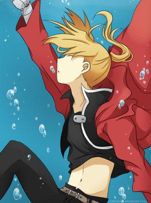 edward elric underwater