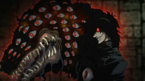 Alucard and his Hellhound this counts right? Hellsing Ultimate