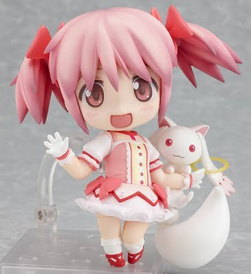 Madoka and ky-whatever his name is.