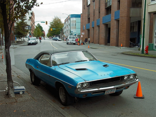 "Dean steals a 1972 Challenger (w/ rally hood)  in ""The Mentalist"". I assume he spends his mourning time working it up and painting it red after the unfortunate incident with Dick in ""Adventures in Babysitting."" I miss the Impala, too. That was my first car (in 1997).  Can't risk ridin' dirty in Daddy's ride after ""Slash Fiction."""