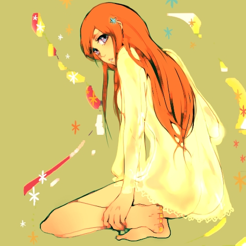 """Inoue Orihime from the anime [i]""""Bleach""""[/i]. Sure, she has her adorably amusing moments, but no matter how hard I try I just can't bring myself to like her."""