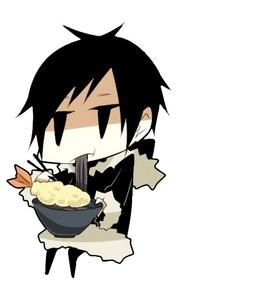 Izaya eatin' Ramen. XD