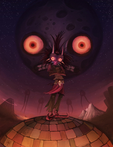 clowns, oogie boogie, spiders and skull kid ... also that creepy moon