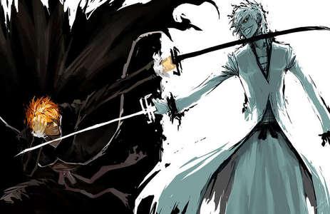 BLEACH - [u]Ichigo Kurosaki & his hollowfied-self[/u]