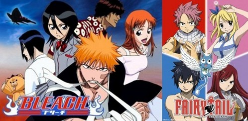 there's some action in Bleach... but i wouldn't say there are a lot of girls there. not really any romance either (sadface) if u want that. it's finished Ichigo, 15 years old, has always been able to see ghosts, so he's no ordinary guy. his family is attacked 의해 a Hollow. a soul that has 로스트 it's 심장 to despair & for some reason stayed in the human world after it's death. after a while it turns into a Hollow. a Shinigami, Rukia, comes to save them but is injured & gives her powers to him. (not good at explaining at all) Fairy Tail might be great! not really any romance here either (yet) though... it's ongoing. it's about Lucy, 17 years old, who wants to become a mage. u can at least give one of them a try! :)