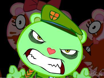 Flippy is a cute little innocent guy who some people think is epic~Did I say innocent? Think again, everytime he sees something violent, o heres something violnt, he transforms into a vicious monster, wanting to murder everyone in site. Ask GirSmurf Who Zim is, I knowwho she is , but girsmurf would be like, WTF tu DONT KNOW THIS EPIC GUY? Heres a picture of flippy btw: