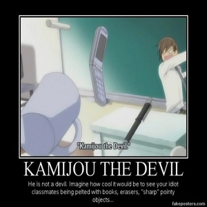 "Because... He`s known as ""Kamijou the Devil"". He can do whatever he wants..."