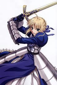 saber from fate stay night and fate zero