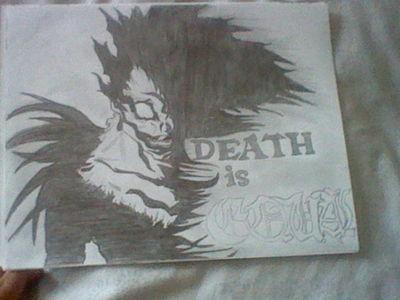 کتیا, کتيا please zombies don't exist so shut up with the apocolyps stuff, so shut up and stare at my ryuk drawing