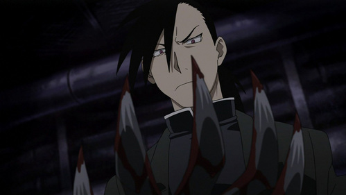 Greed from Fullmetal Alchemist. Even though he's a hommunculus, he's a good guy, I think. :D