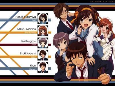 The Haruhi Suzumiya series! :P
