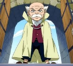 Makarov Dreyar from Fairy Tail. He's one of the Ten Wizard Saints. Despite him being small, he is really strong in his giant form..