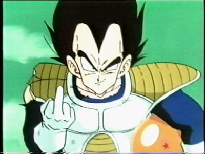 Vegeta. He is just soooo badass and arrogant. Vegeta: I will show my to middle finger 2 them who disagree.