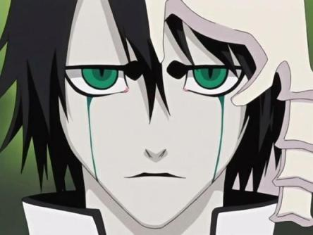 """Ulquiorra Cifer/Schiffer from Bleach. idk y i like him. it's like even though he did bad things he didn't do it 'cuz he wanted to. もっと見る like he had to. and he always treated Orihime with respect. i think he tried to tell her in the end that he was confused. that he didn't know what was the right thing to do. but that he now understands what this """"heart"""" is that humans always talk about."""