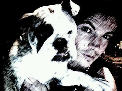 Here is Josh Henderson with his dog, Sadie...So cute! ♥