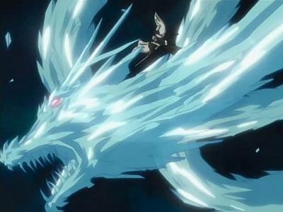 either Hitsugaya Toushirou's Hyourinmaru または i wanna be a Dragon Slayer like Natsu :) (thunder, ice または 火災, 火 doesn't matter) no, i don't like ドラゴン at all :))