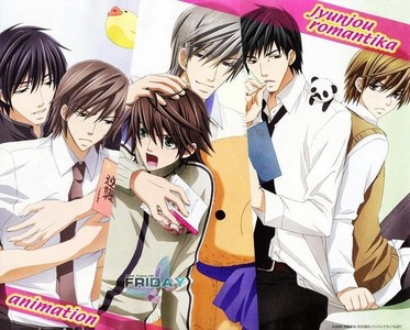 Fav: Junjou Romantica (A Yaoi Anime) Currently watching: Junjou Romantica I also started watching Hetalia. I have no life ._.