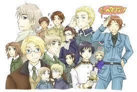 Hetalia, definitely. It's basically cute guys doing stupid things and making a history lesson out of it X) But it's still awesome! Like Prussia!