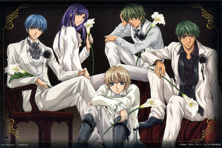 You can try La Corda D&#39;Oro. So many cute guys! Especially Kazuki Hihara! <3
