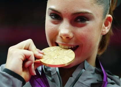 [b]Mckayla Maroney. She is the best person on earth.She survived because she chomped on her Donut-I mean. Medal.[/b]