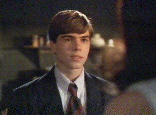 Matthew in Strike (All I wanna do) wearing a tie. <3