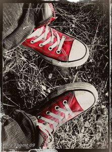 My Red Converse! ♥