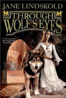 Through Wolf's Eyes by Jane Lindskold. It's a Fantasy, the first in the Firekeeper series. 