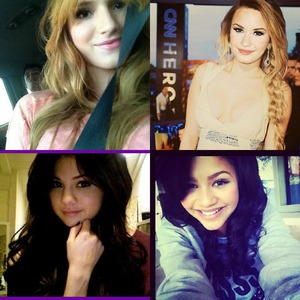 Let's see, i like (for the most) Selena Gomez, Demi Lovato, Bella Thorne and Zendaya