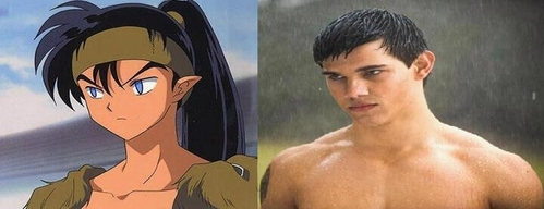 Koga from 이누야사 and Taylor lautner!!!!!!!! :D