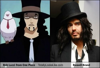 Rob Lucci and Russell Brand look alike XD