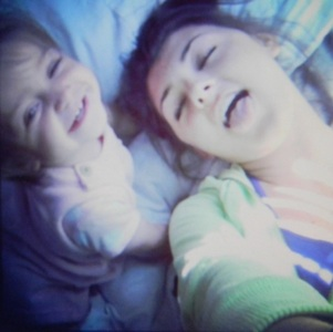 Me&my sister after our nap<3