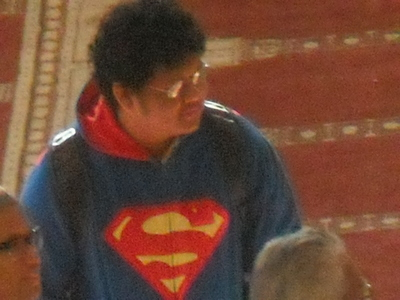 Its a pic i took at meh mosque ^3^ soweyz i had to change it to me stalking Superman at meh mosque MUWAHAHAHAHA