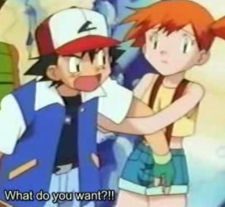 """So an アニメ boy and girl that are """"just friends""""..well one that comes to mind right now is Satoshi-kun and Kasumi-chan from Pokemon..if they count anyway."""