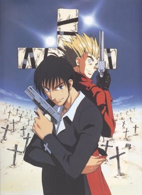 Vash the Stampede and Wolfwood.